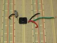 Air Pressure sensor on a breadboard